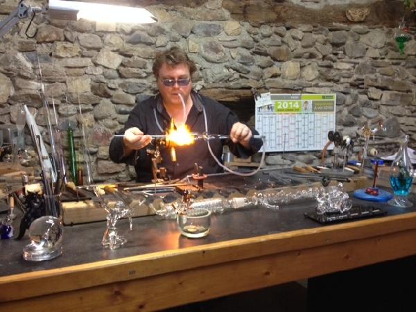 Visite chez Yann le soufleur de verre