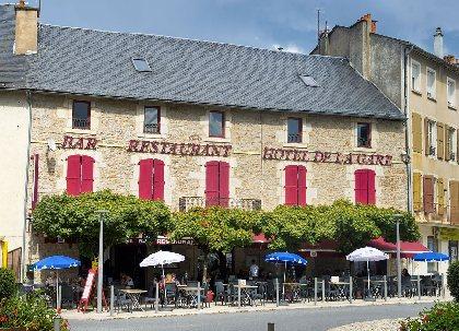 Hôtel-restaurant de la Gare à Sévérac-le-Château