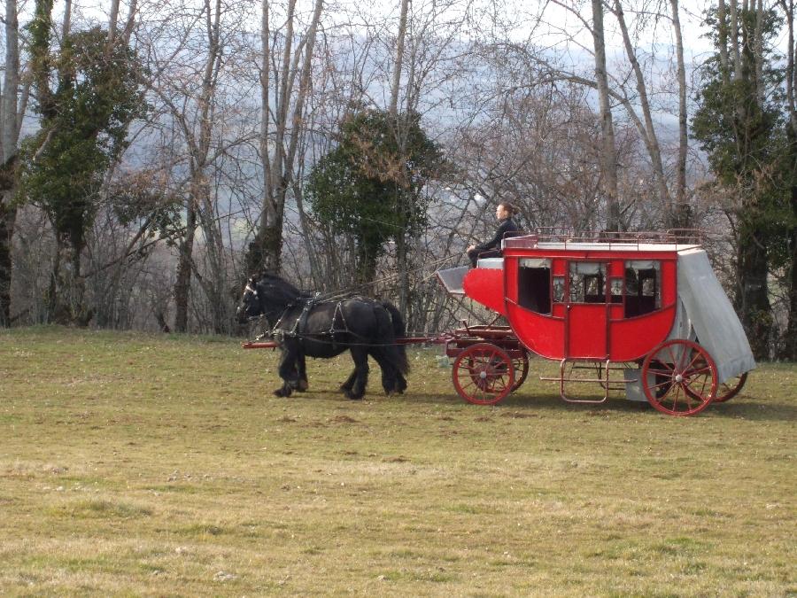 Ranch du Barrez Balade en calèche et en diligence
