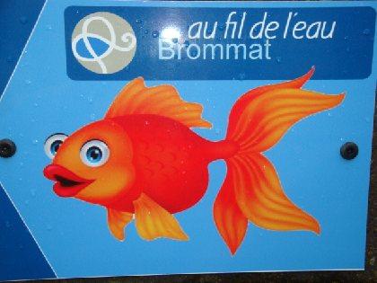 balisage du sentier : suivez le poisson