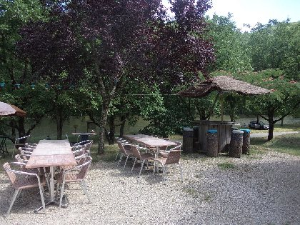 Restaurant Les Rives du Lot - Terrasse,