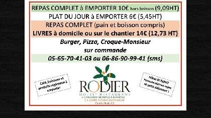 Restaurant Rodier, Office de Tourisme des Causses à l'Aubrac
