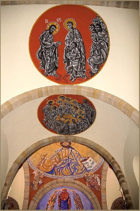 Visite de l'Eglise St Martial de Lagarde - Fresques de N. GRESCHNY