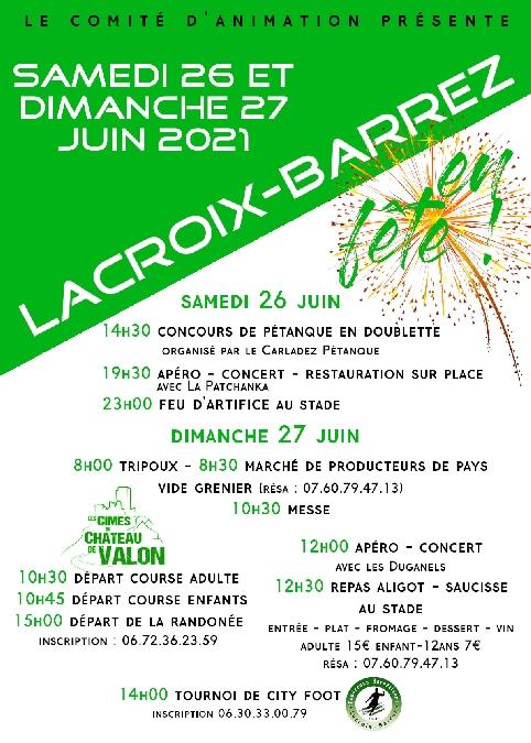 Fête du village de Lacroix-Barrez