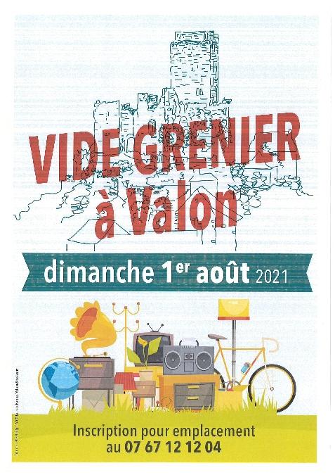Vide-grenier au village de Valon - ANNULÉ