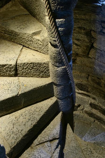 escalier-colimaçon Château de Valon