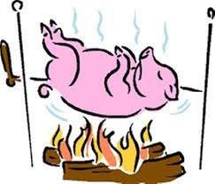 Repas cochon grillé