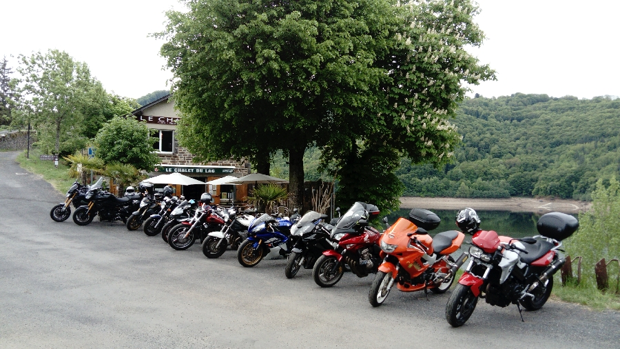 Rallye moto au Chalet du lac