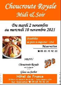 Choucroute Royale Midi & Soir