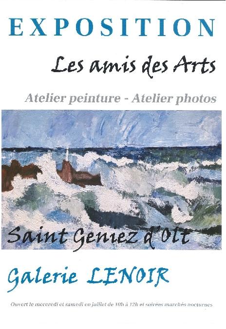 Les Amis des Arts exposent à la Galerie Lenoir