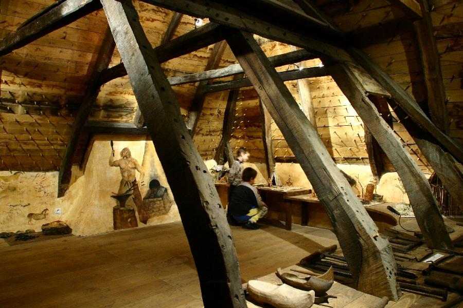 A l'étage de la forge de Murols