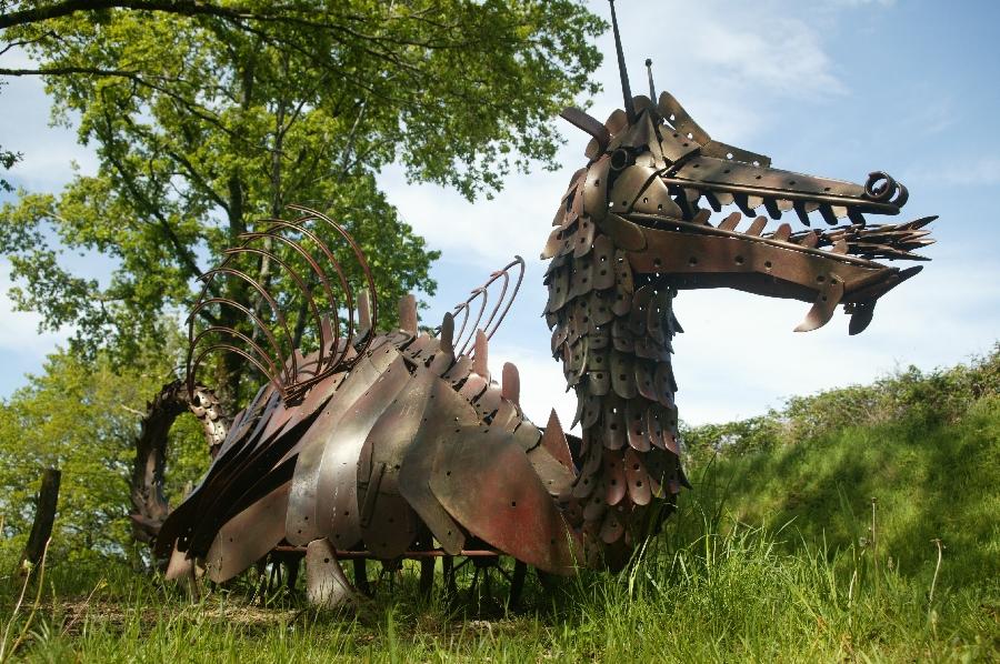 Sculpture de fer à Murols