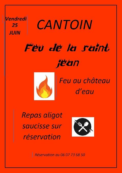Feu de la St Jean de Cantoin