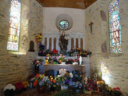 Intérieur de la chapelle de St Meen, Office de Tourisme Rougier d'Aveyron Sud