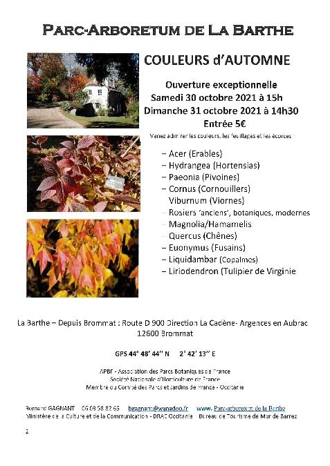 Parc-arboretum de La Barthe - Couleurs d'Automne