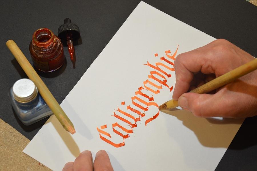 Atelier de calligraphie - Xavier Piton