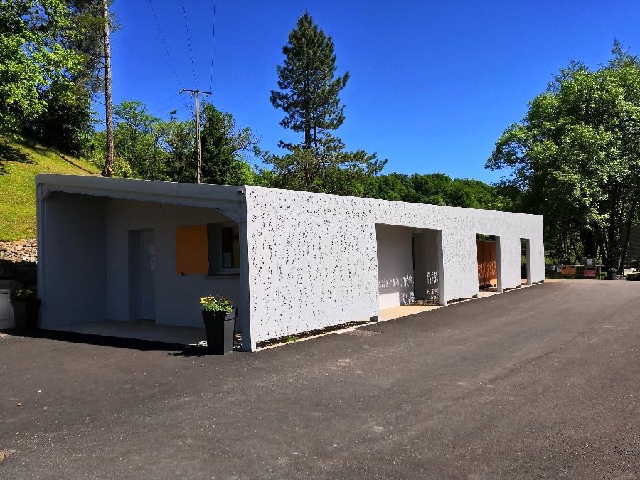 bâtiment sanitaires du camping
