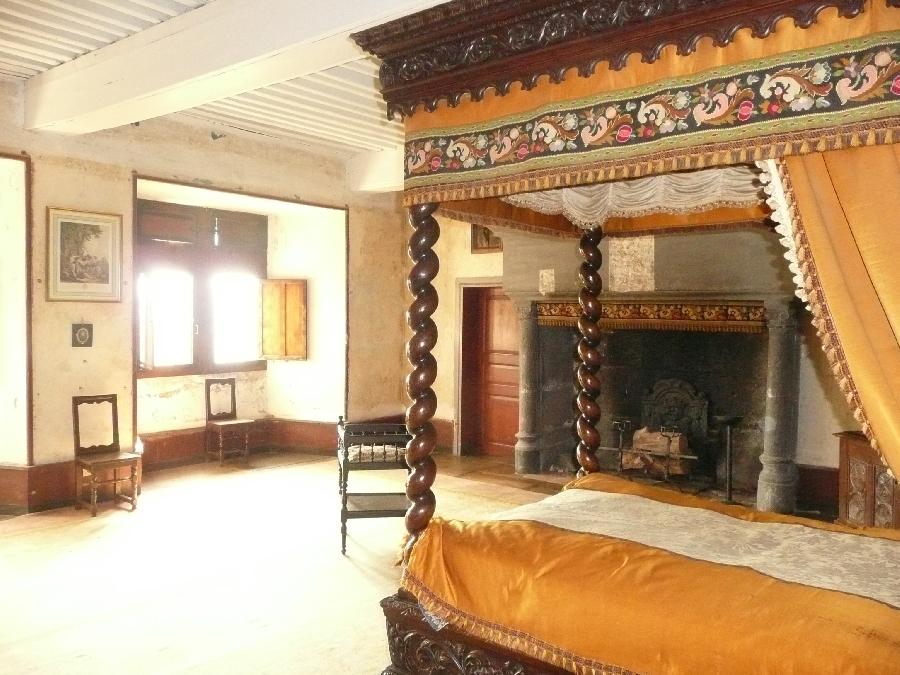 Chambre de la reine Château de Messilhac