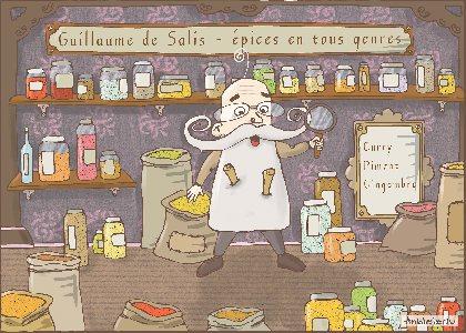 Le mystère du marchand d'épice, © dessin de Anbleizdu