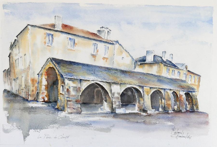 Aquarelles du Sud-Aveyron par Roland Camboulives