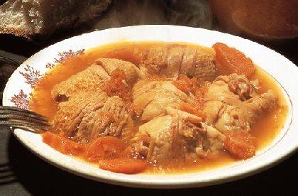 Déjeuner aux tripous et tête de veau