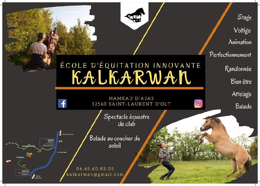 Ecole d'équitation et de spectacle équestre du club Kalkarwan