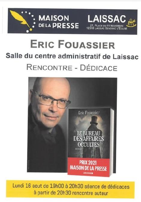Rencontre dédicaces avec Eric Fouassier