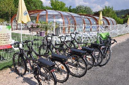 Camping Les Calquières - Location de vélos à assistance électrique