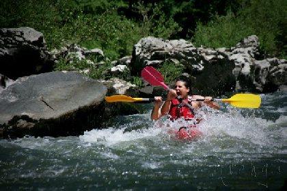 F'Estivales des Causses à l'Aubrac : descente kayak en eaux-vives