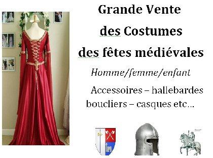 Vente costumes fêtes médiévales