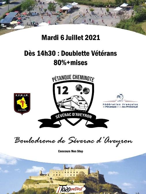 Concours en doublette Vétérans à Sévérac-le-Château