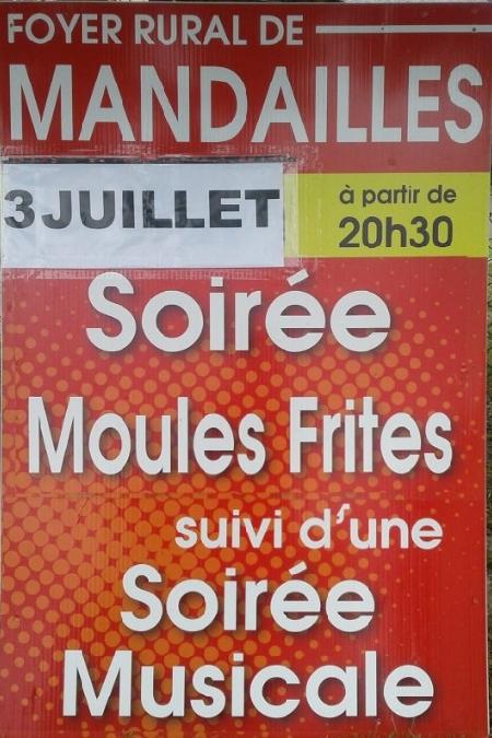 Soirée moules-frites à Mandailles