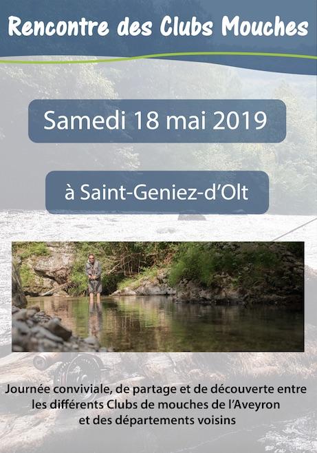 Pêche à la mouche : 1ère Rencontre Interclubs à St Geniez d'Olt