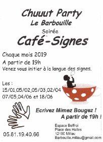Café-Signes, soirée chuuut Party