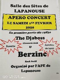 Soirée apéro concert de l'APE à Lapanouse
