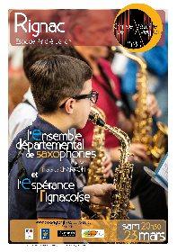 Concert de l'ensemble départemental de saxophones et l'espérance rignacoise