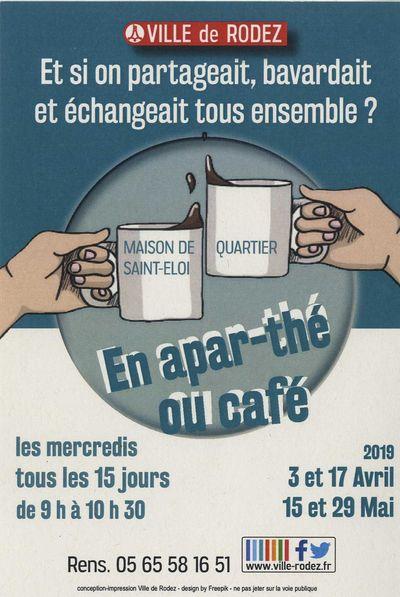 EN APAR-THÉ OU CAFÉ