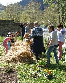 Chantiers participatifs pour le Jardin au Naturel du gîte de la Maladrerie