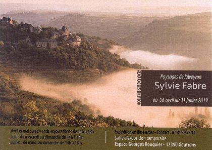 Exposition de photographies Paysages d'Aveyron de Sylvie Fabre
