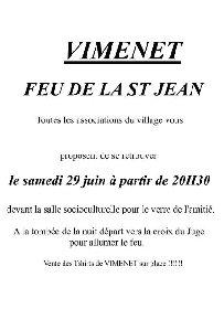 Feu de la St Jean - VIMENET