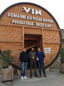 Visite guidée du domaine du Vieux Noyer (vins biologiques) à Boyne