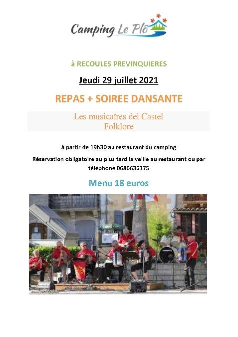 Soirée paëlla et concert - Camping Le Plô - Recoules-Prévinquières