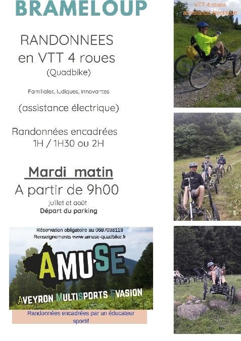 Rando en VTT quadbike avec assistance électrique à Brameloup