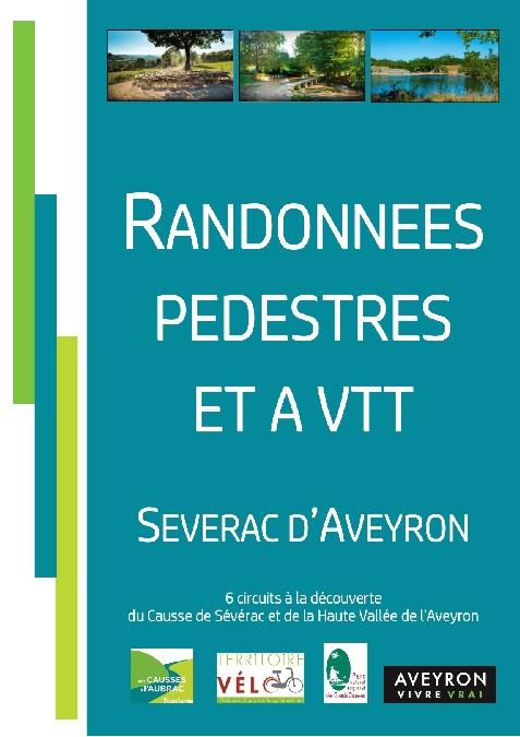 Topo guide randonnées pédestres et à VTT à Sévérac d'Aveyron
