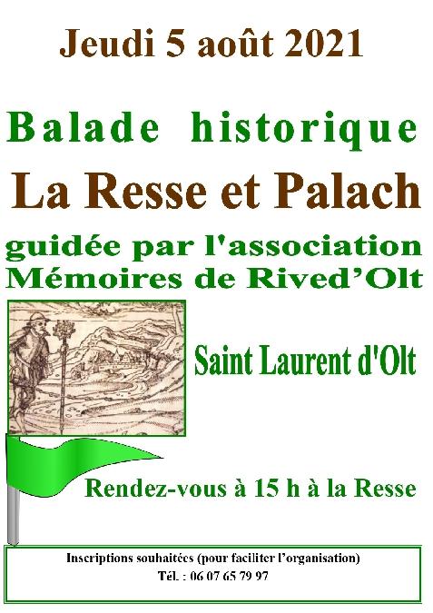 Balade historique autour de St Laurent d'Olt