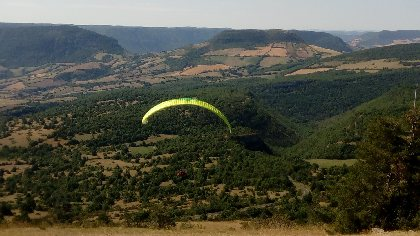 Site de vol libre de parapente de Novis,