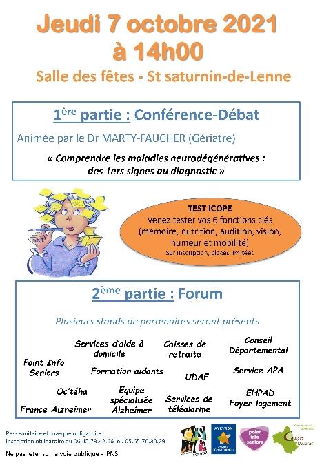 Conférence-Débat à St Saturnin de Lenne