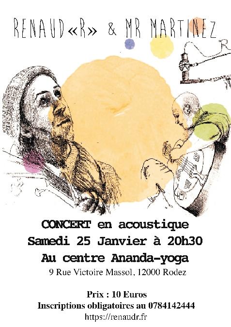 Concert en acoustique : Renaud R et Mr.Martinez