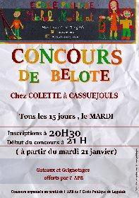 Concours de Belote de l'école Michel Molhérat