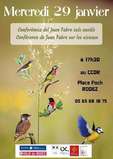 Conférence sur les oiseaux par Jean Fabre